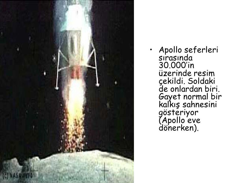 Apollo seferleri sırasında 30. 000'in üzerinde resim çekildi