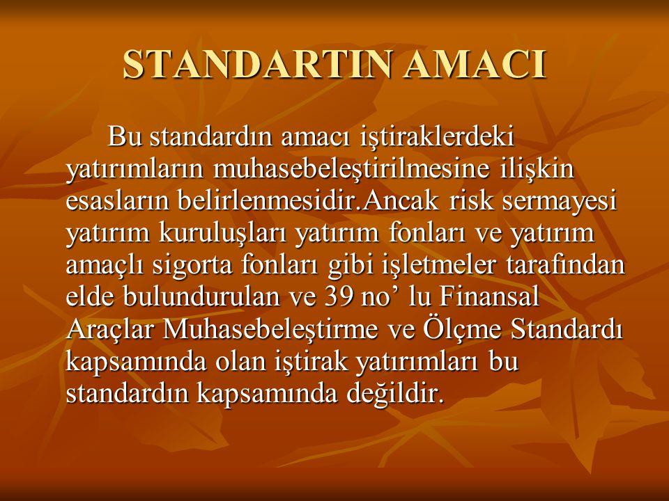 STANDARTIN AMACI