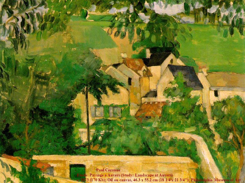 Paul Cezanne Etude: Paysage a Auvers (Study: Landscape at Auvers) c