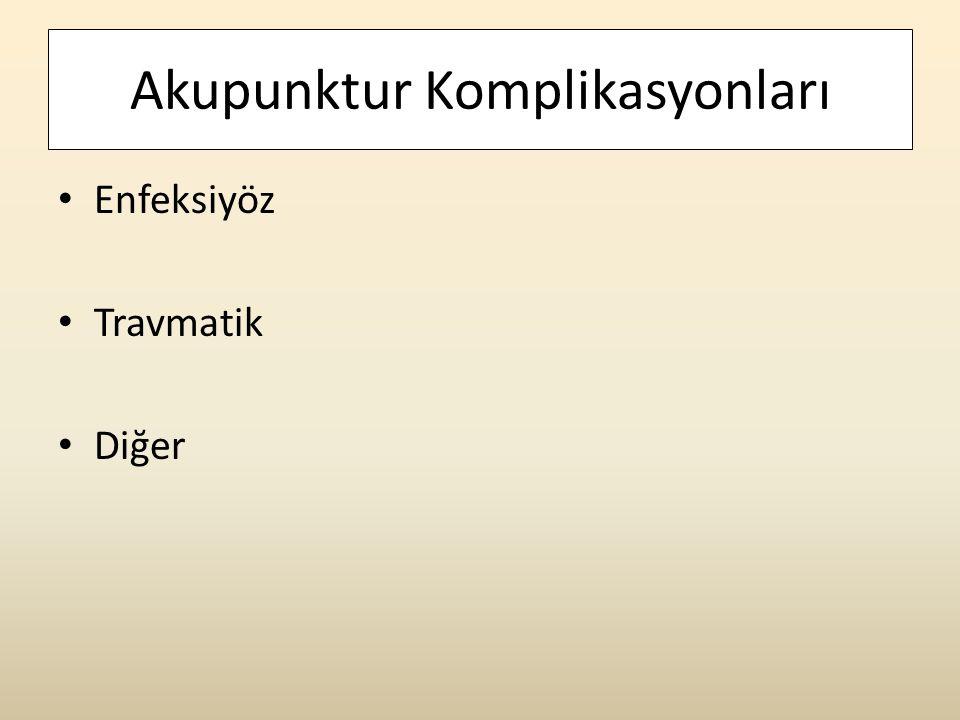 Akupunktur Komplikasyonları