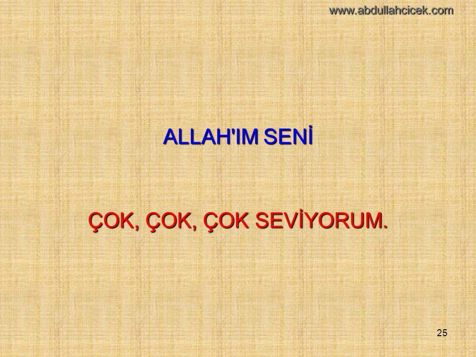 ALLAH IM SENİ ÇOK, ÇOK, ÇOK SEVİYORUM. www.abdullahcicek.com