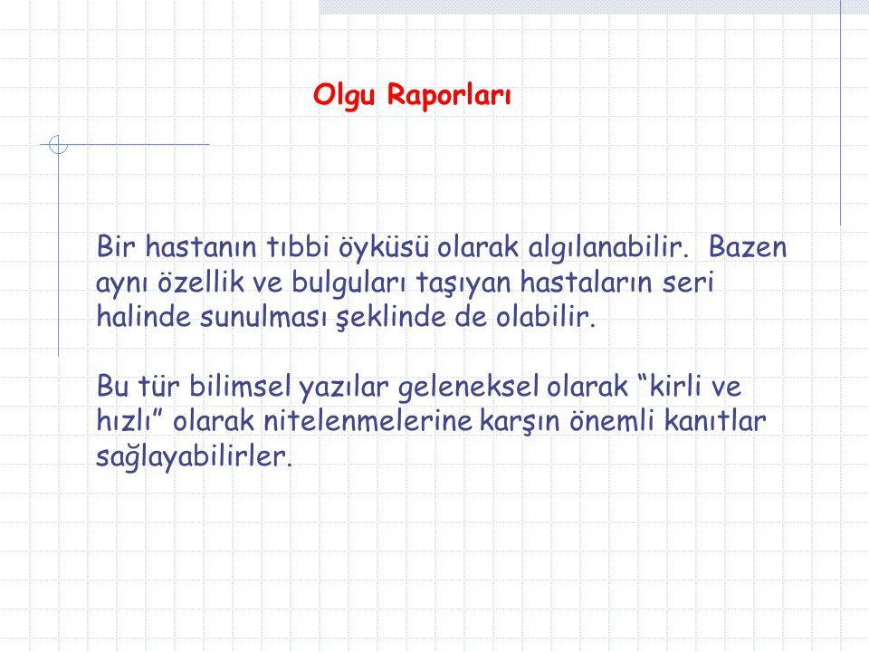 Olgu Raporları
