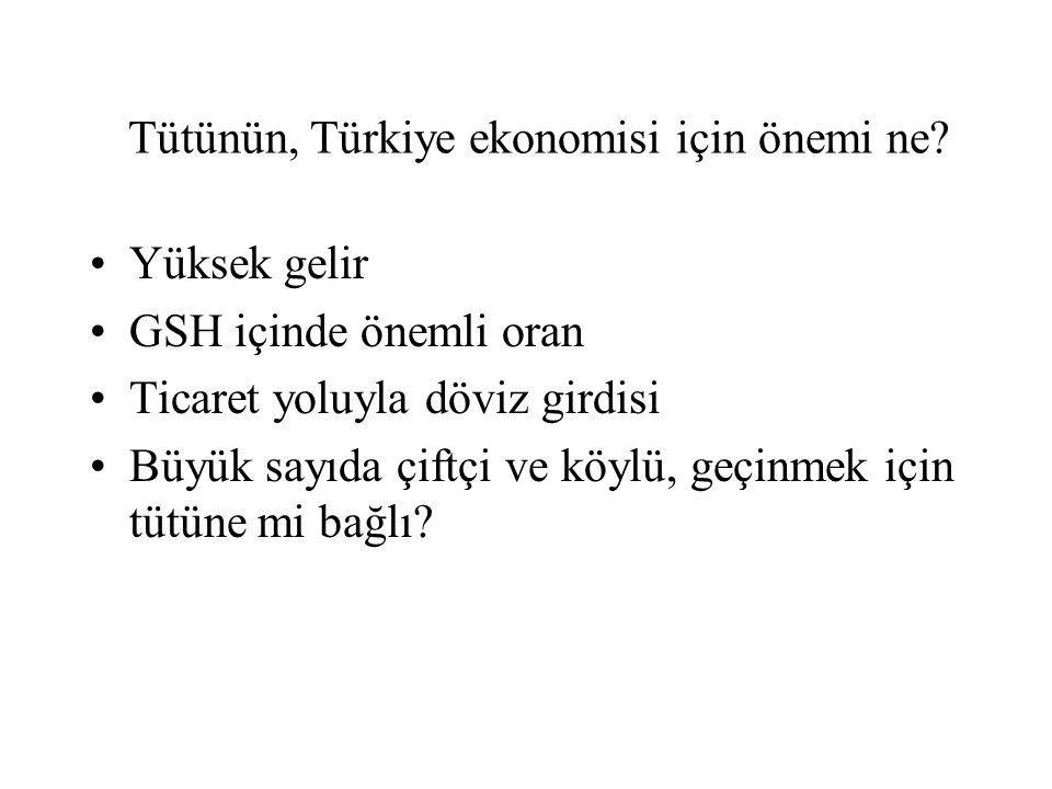 Tütünün, Türkiye ekonomisi için önemi ne