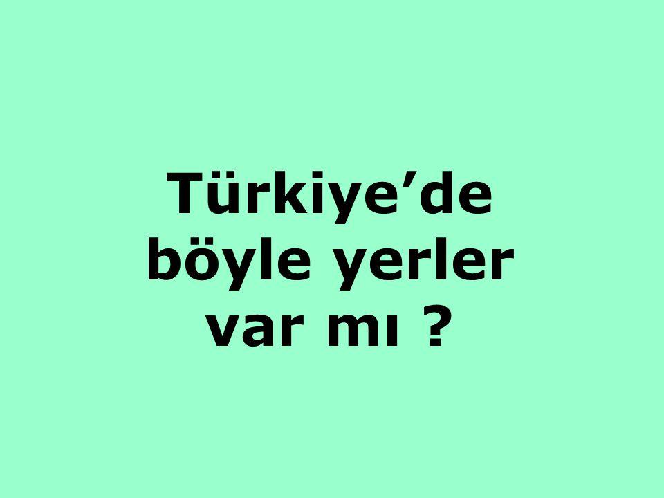 Türkiye'de böyle yerler var mı