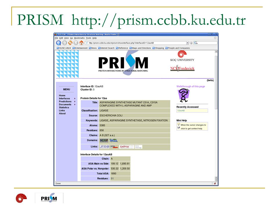 PRISM http://prism.ccbb.ku.edu.tr