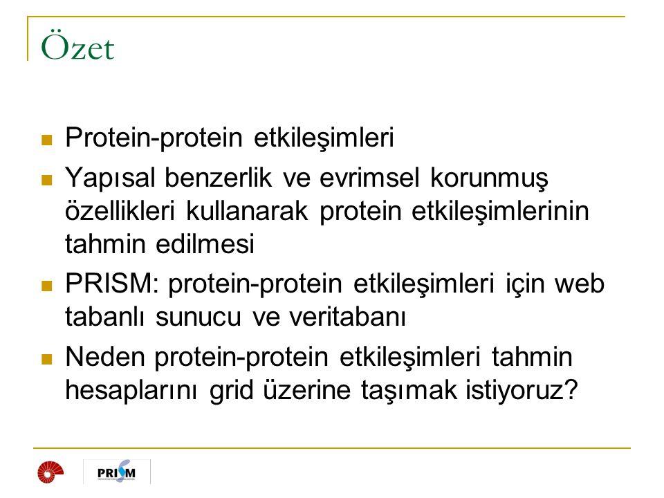 Özet Protein-protein etkileşimleri