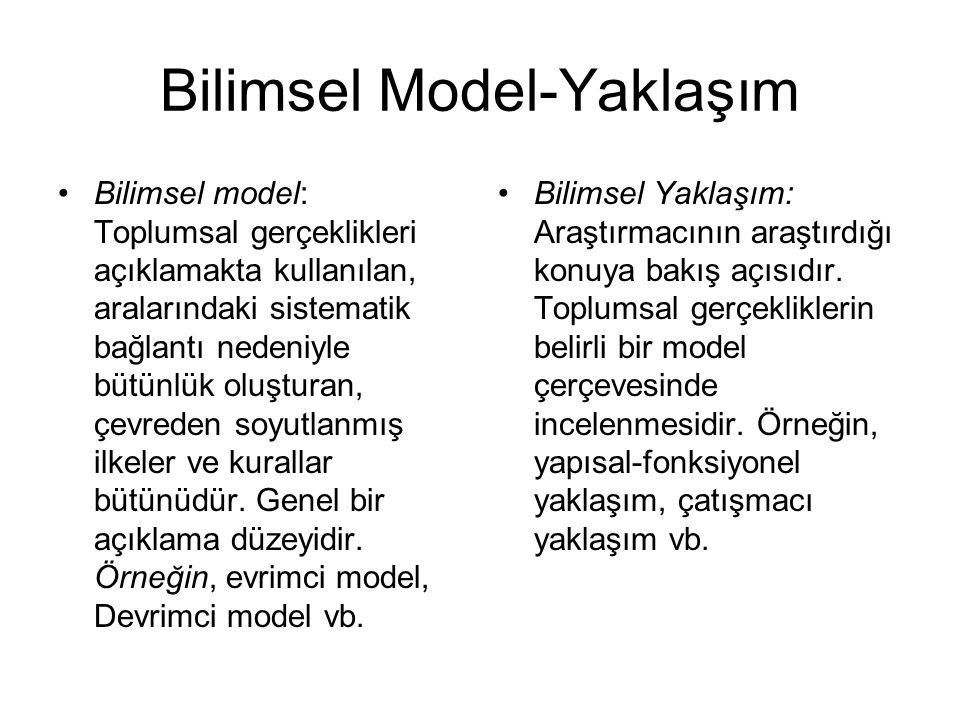 Bilimsel Model-Yaklaşım