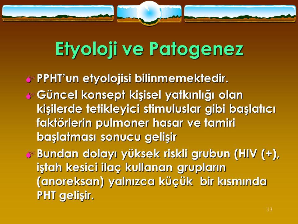 Etyoloji ve Patogenez PPHT'un etyolojisi bilinmemektedir.
