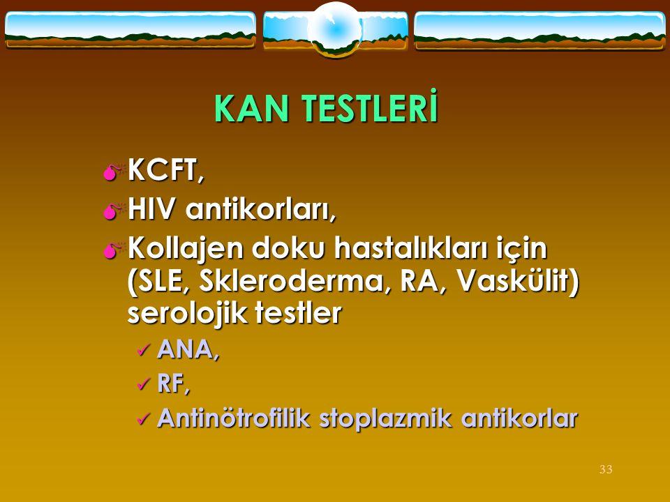 KAN TESTLERİ KCFT, HIV antikorları,
