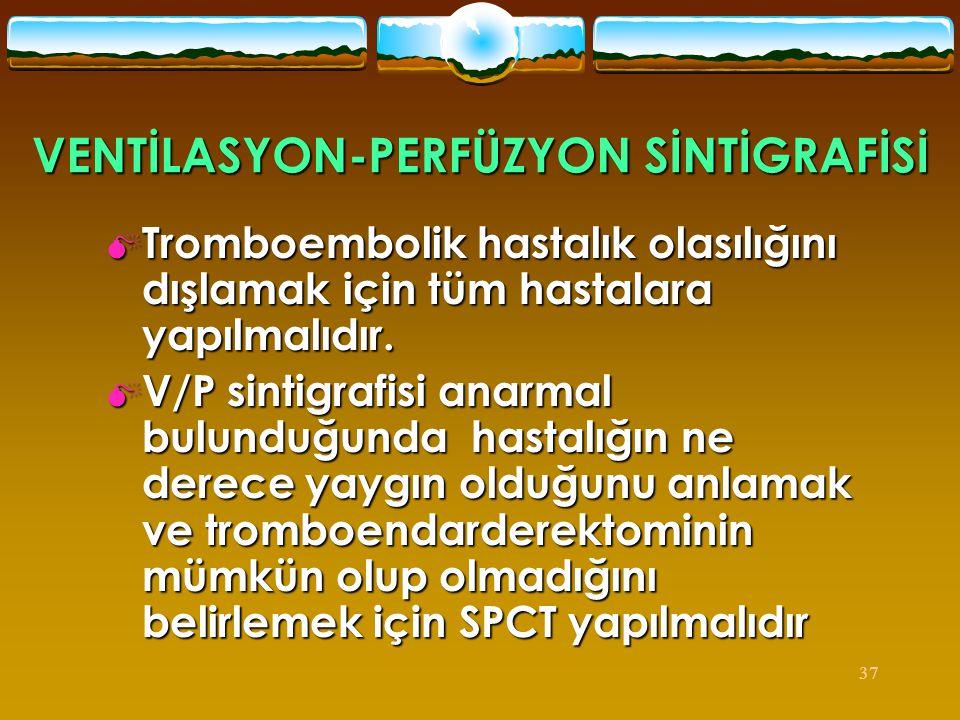 VENTİLASYON-PERFÜZYON SİNTİGRAFİSİ