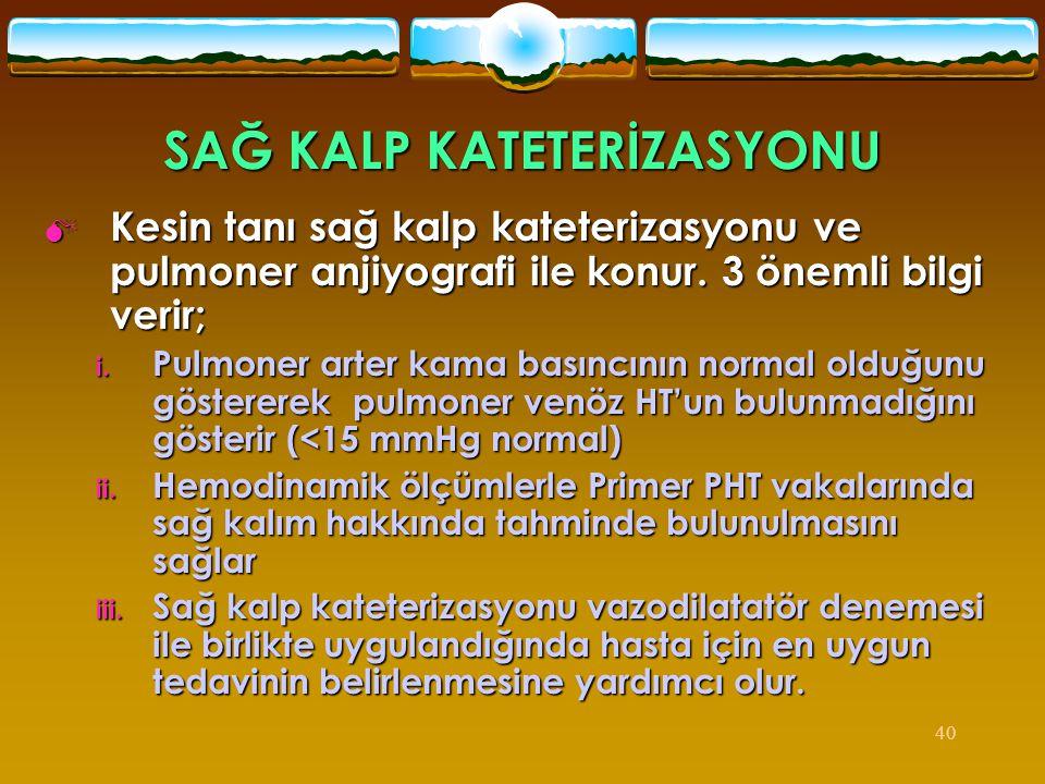 SAĞ KALP KATETERİZASYONU