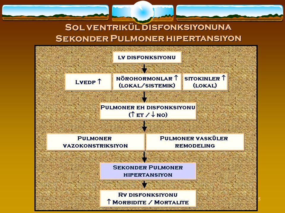 Sol ventrikül disfonksiyonuna Sekonder Pulmoner hipertansiyon