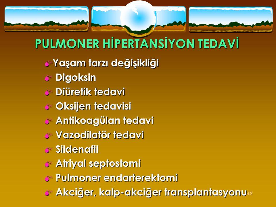 PULMONER HİPERTANSİYON TEDAVİ