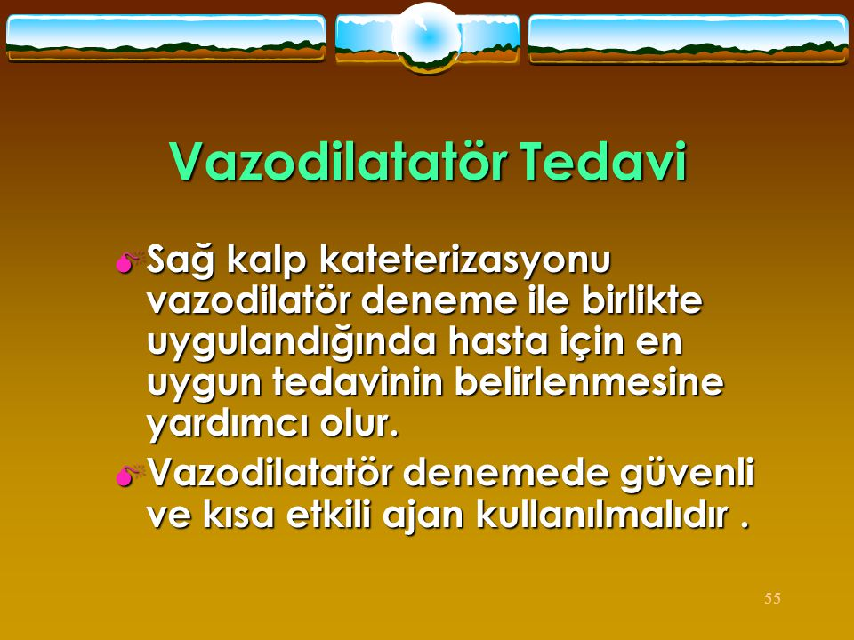 Vazodilatatör Tedavi