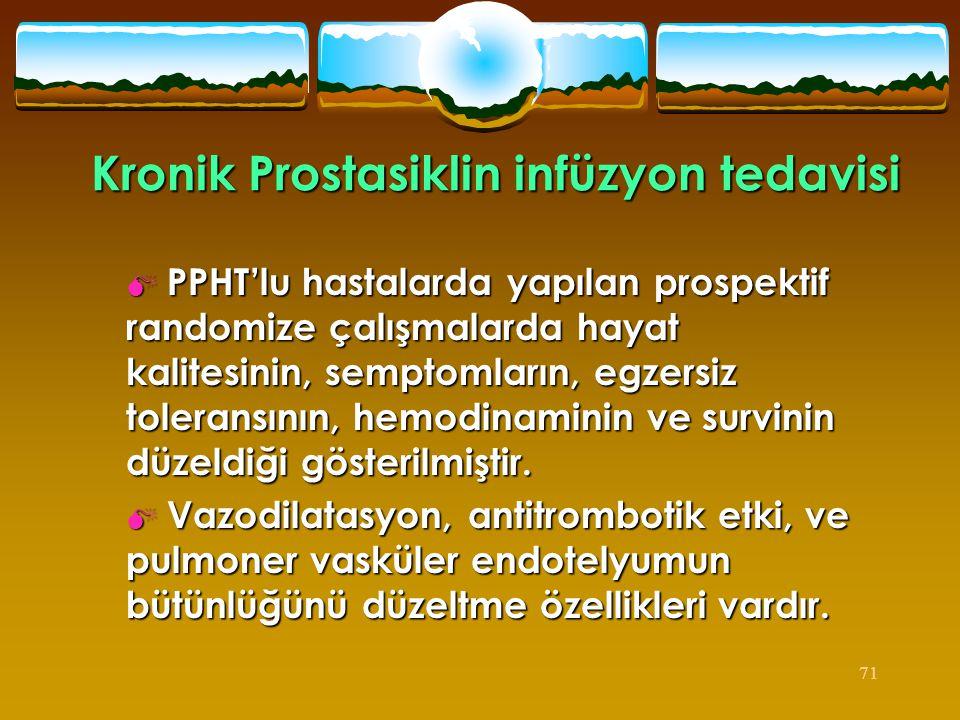 Kronik Prostasiklin infüzyon tedavisi