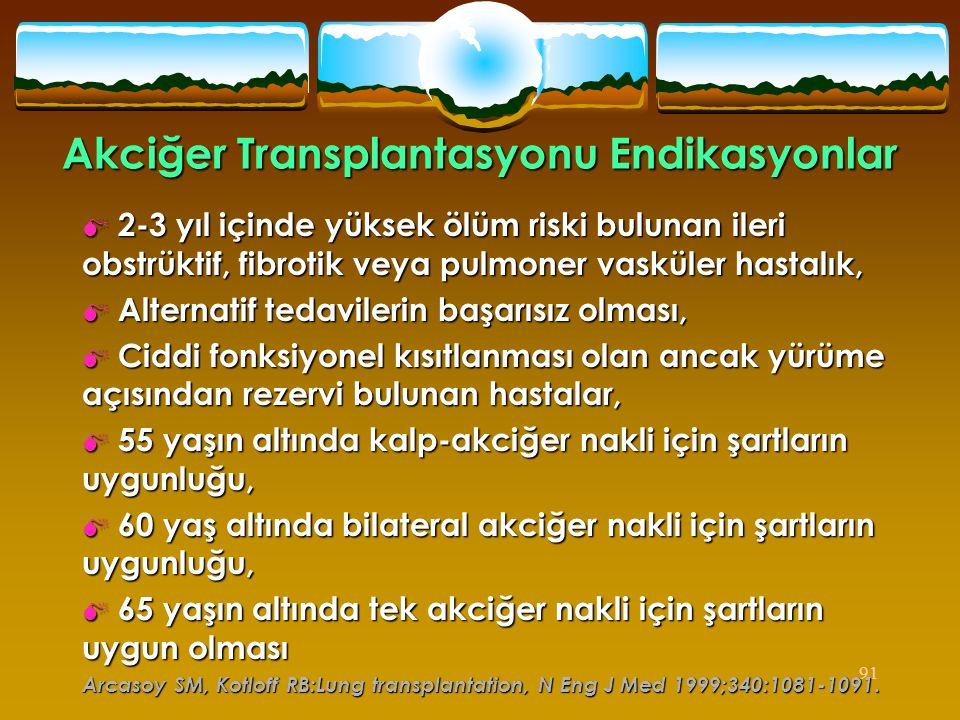 Akciğer Transplantasyonu Endikasyonlar