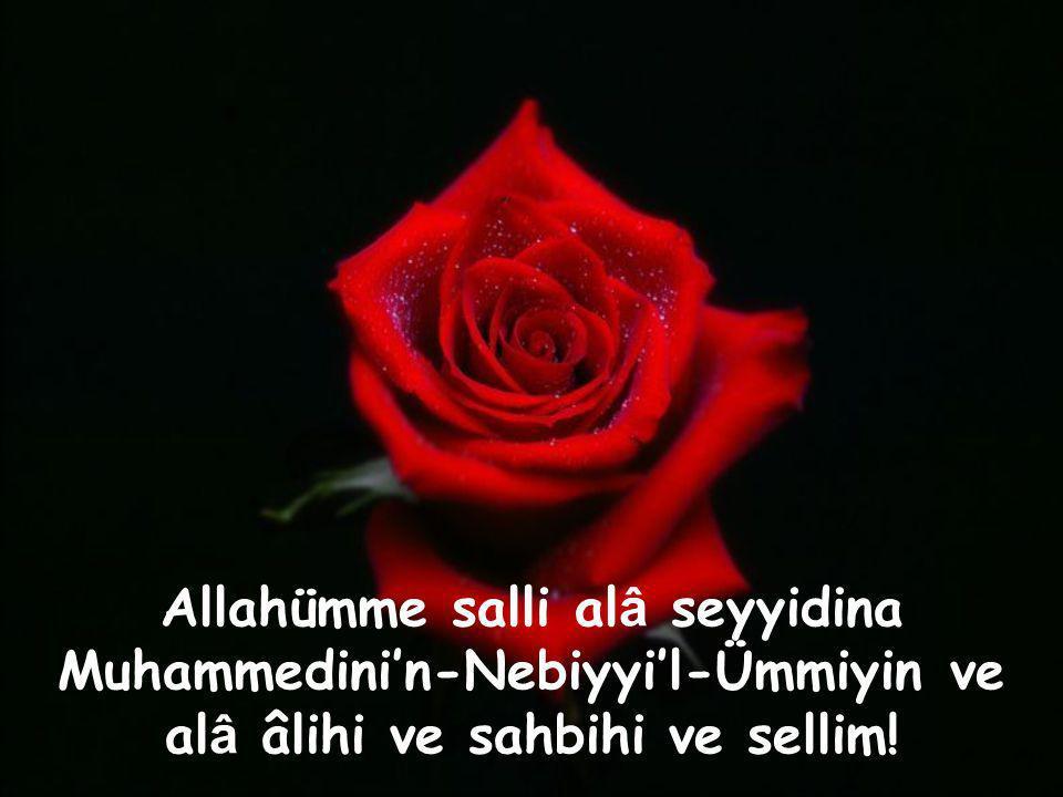 Allahümme salli alâ seyyidina Muhammedini'n-Nebiyyi'l-Ümmiyin ve alâ âlihi ve sahbihi ve sellim!