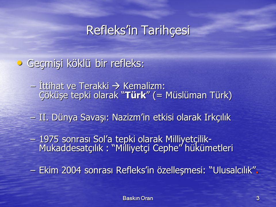 Refleks'in Tarihçesi Geçmişi köklü bir refleks:
