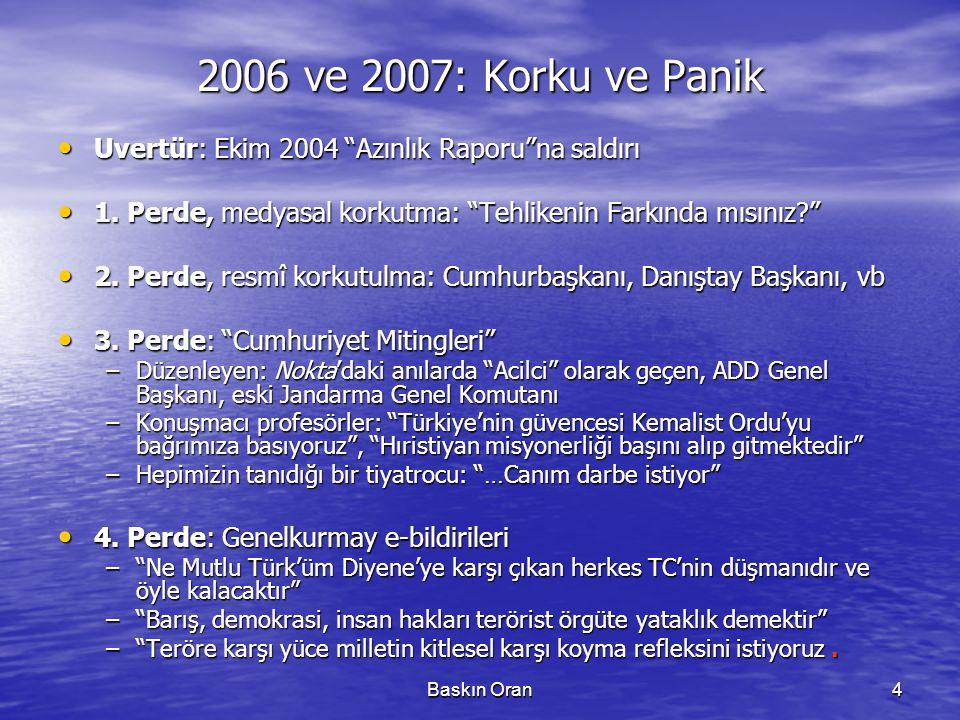 2006 ve 2007: Korku ve Panik Uvertür: Ekim 2004 Azınlık Raporu na saldırı. 1. Perde, medyasal korkutma: Tehlikenin Farkında mısınız