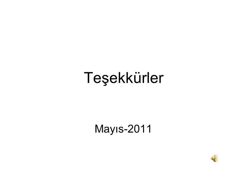 Teşekkürler Mayıs-2011