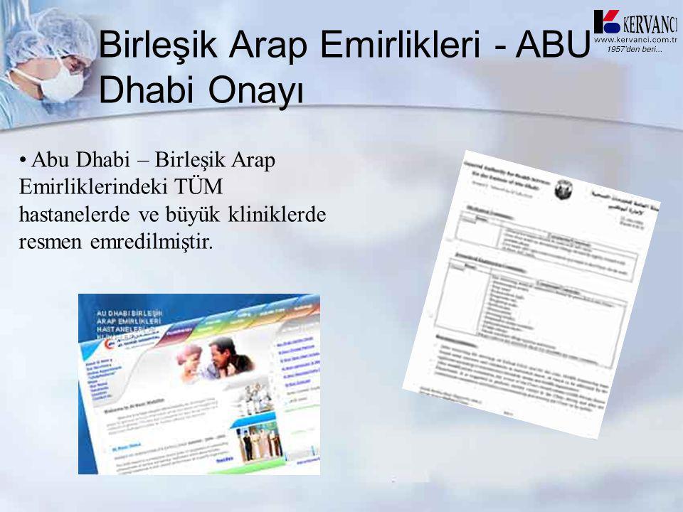 Birleşik Arap Emirlikleri - ABU Dhabi Onayı