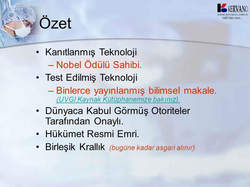 Özet Kanıtlanmış Teknoloji Nobel Ödülü Sahibi. Test Edilmiş Teknoloji