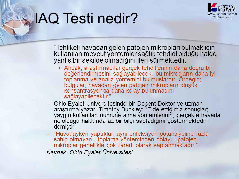IAQ Testi nedir
