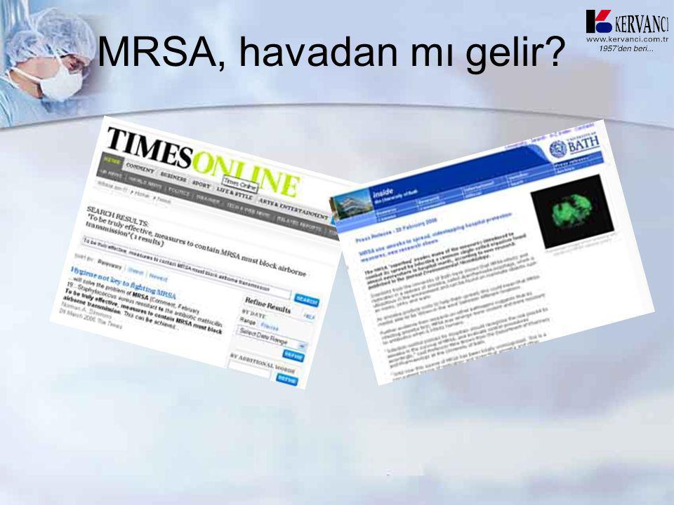 MRSA, havadan mı gelir