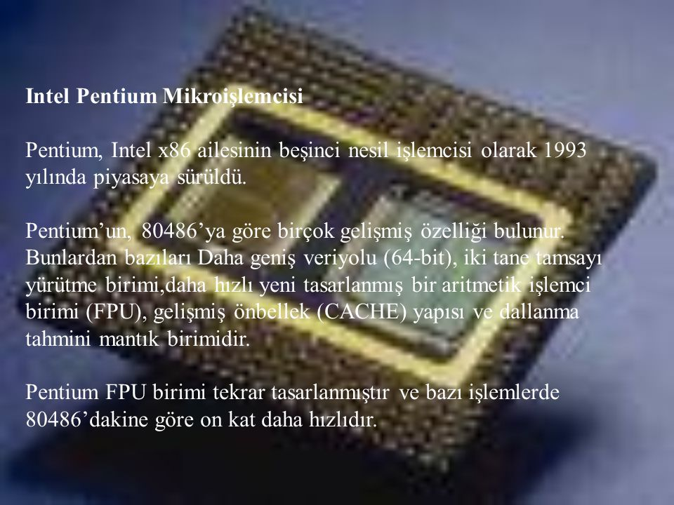 Intel Pentium Mikroişlemcisi