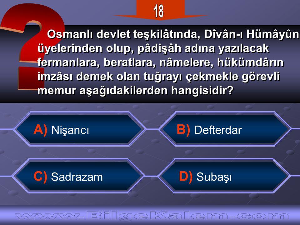 18 www.BilgeKalem.com A) Nişancı