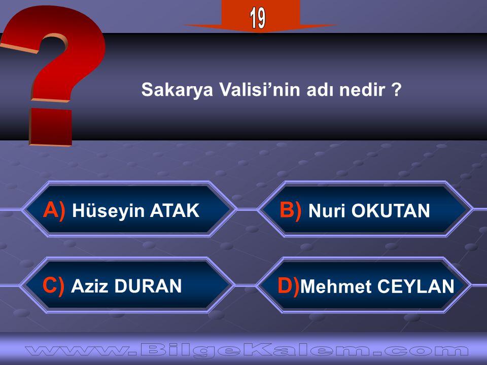19 www.BilgeKalem.com A) Hüseyin ATAK