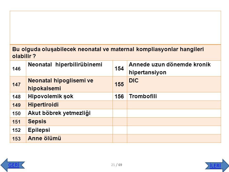 Neonatal hiperbilirübinemi 154