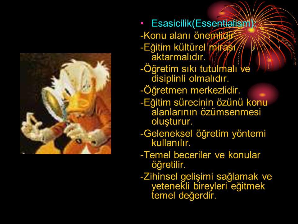 Esasicilik(Essentialism):