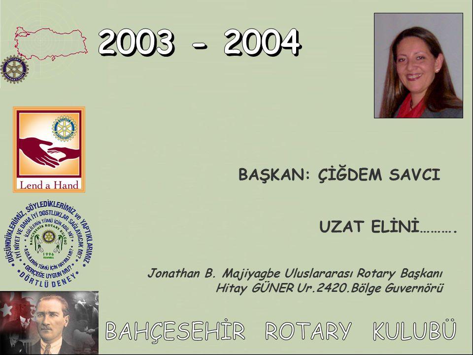 2003 - 2004 BAŞKAN: ÇİĞDEM SAVCI UZAT ELİNİ……….