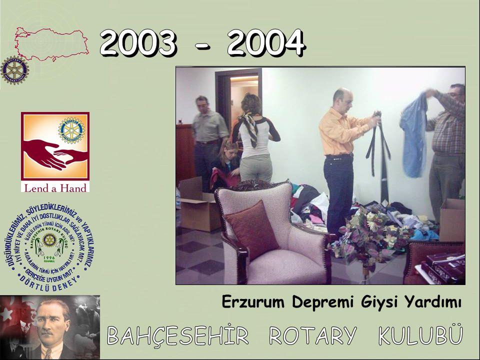 2003 - 2004 Erzurum Depremi Giysi Yardımı