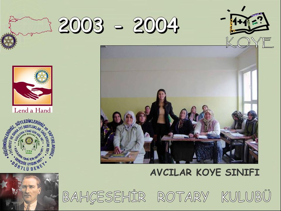 KOYE 2003 - 2004 AVCILAR KOYE SINIFI