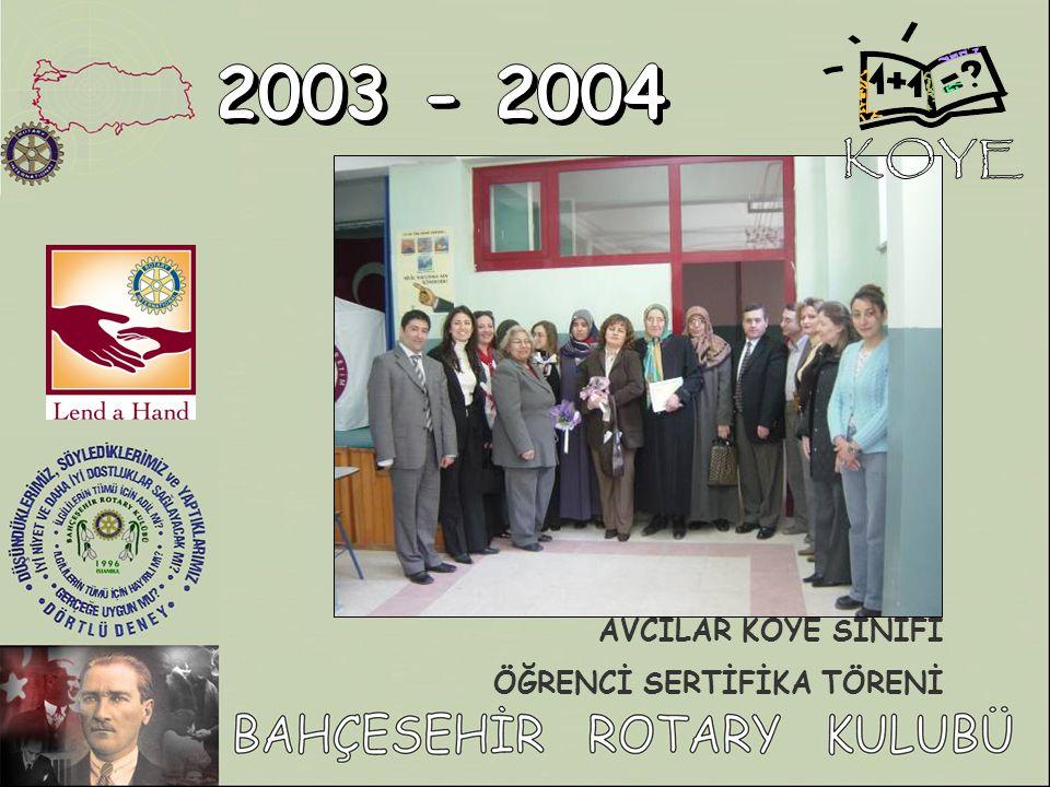 KOYE 2003 - 2004 AVCILAR KOYE SINIFI ÖĞRENCİ SERTİFİKA TÖRENİ