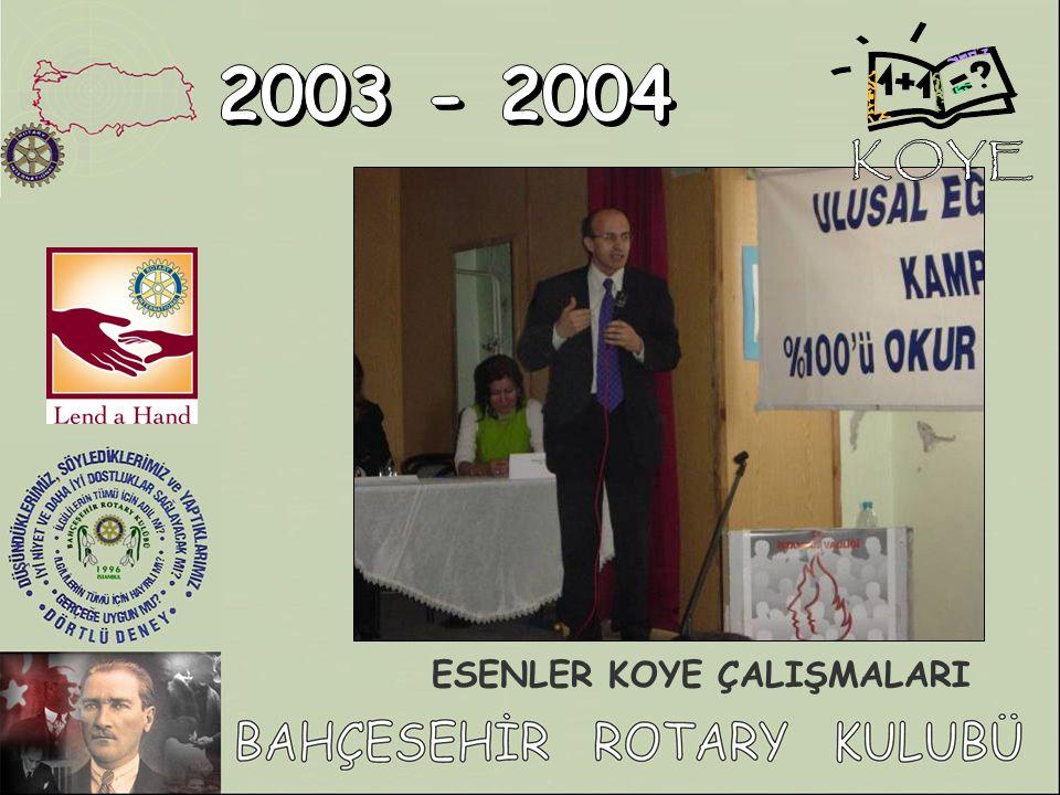 KOYE 2003 - 2004 ESENLER KOYE ÇALIŞMALARI