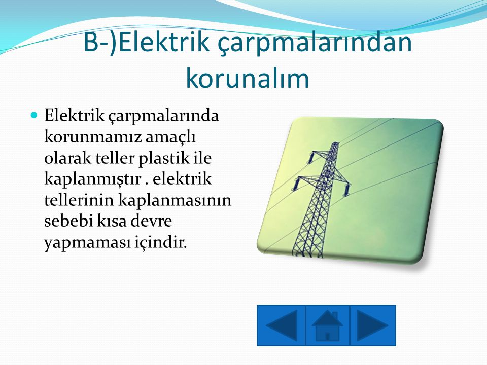 B-)Elektrik çarpmalarından korunalım
