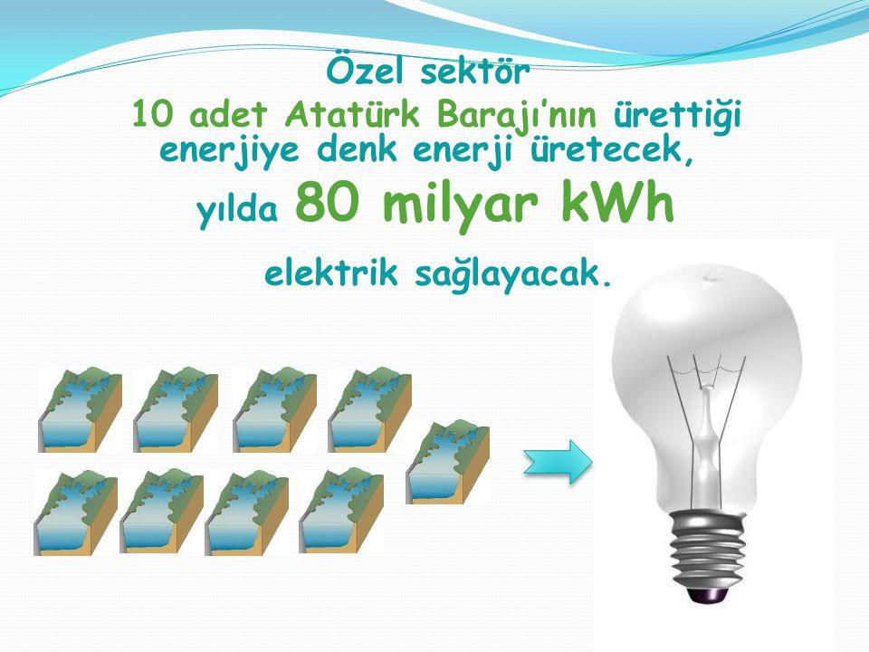 10 adet Atatürk Barajı'nın ürettiği enerjiye denk enerji üretecek,