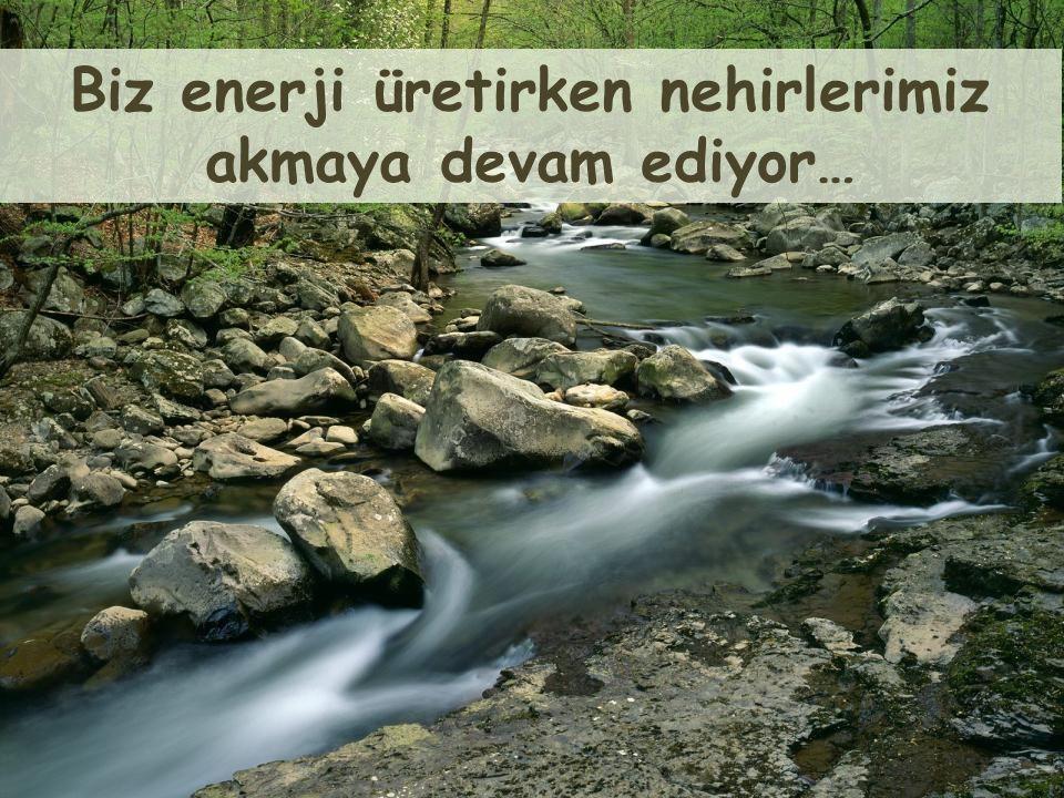 Biz enerji üretirken nehirlerimiz
