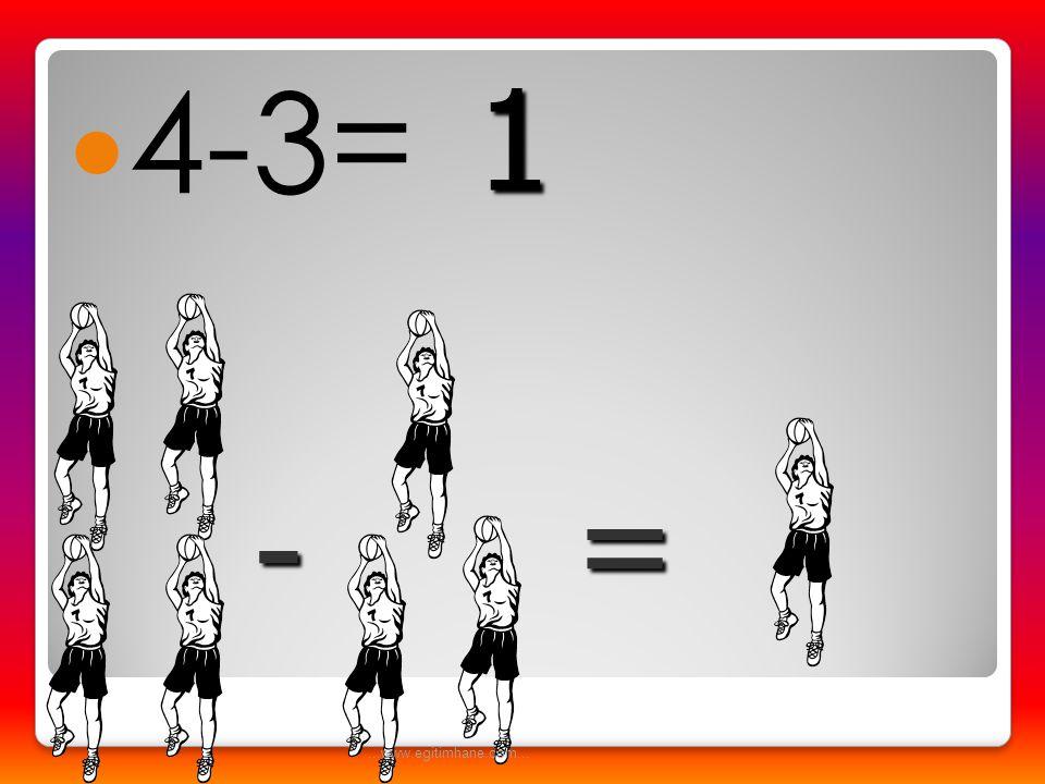 4-3= 1 = - ...www.egitimhane.com...