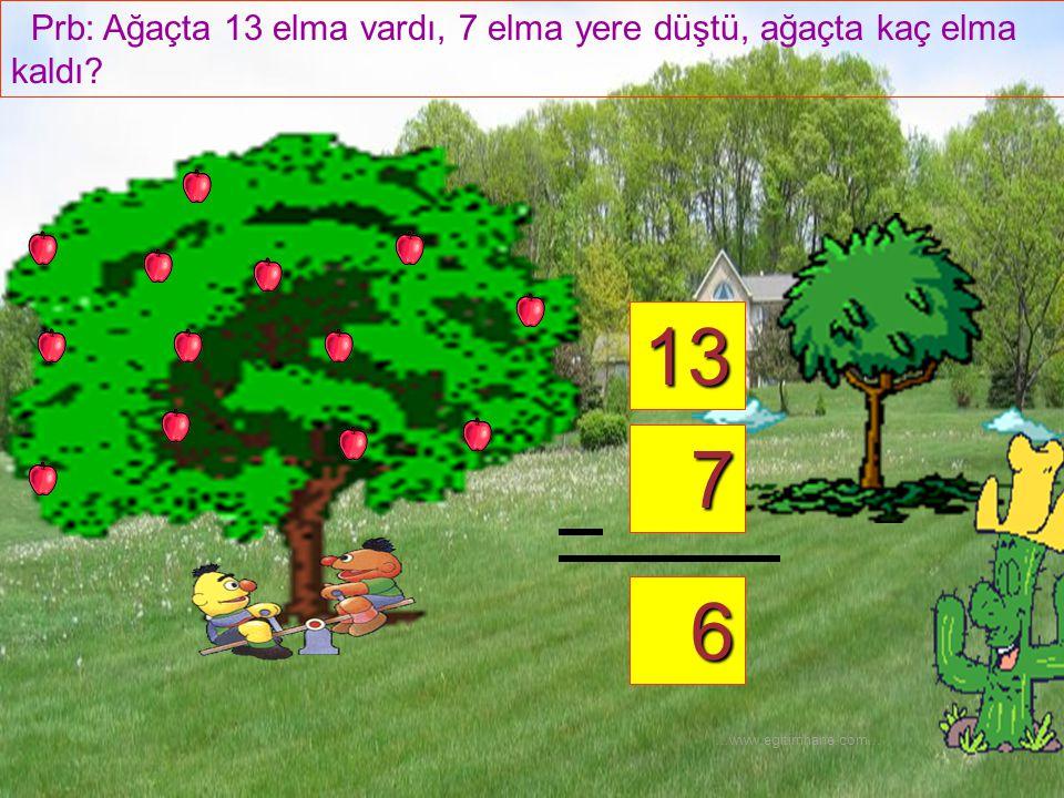 Prb: Ağaçta 13 elma vardı, 7 elma yere düştü, ağaçta kaç elma kaldı