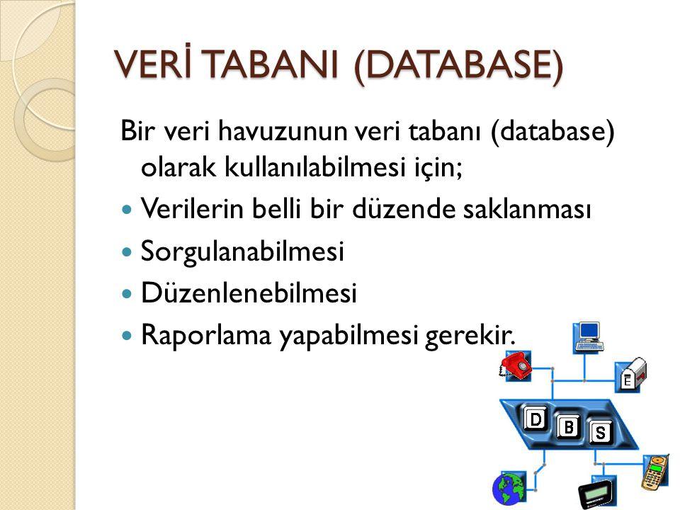 VERİ TABANI (DATABASE)