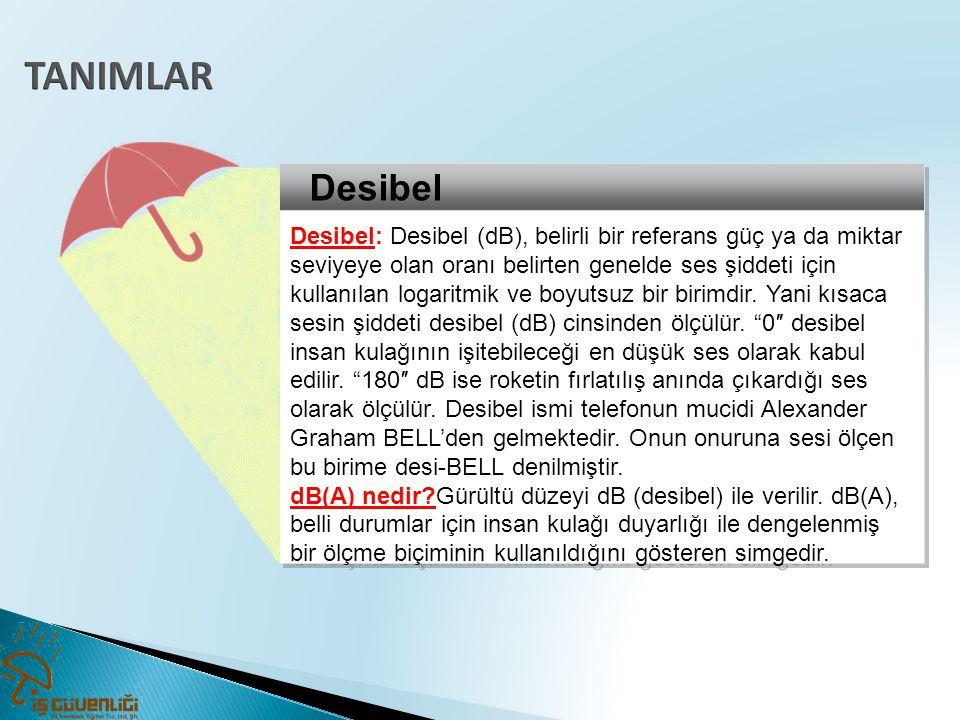 TANIMLAR Desibel.