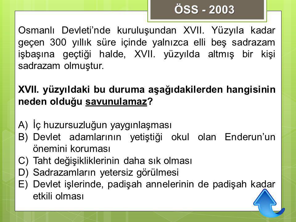 ÖSS - 2003