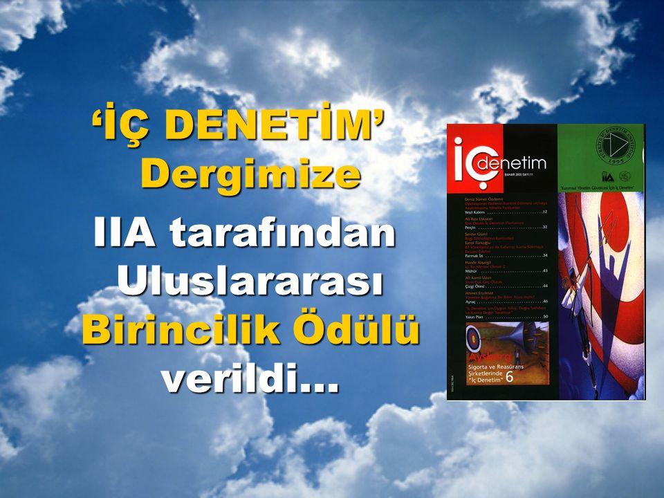'İÇ DENETİM' Dergimize