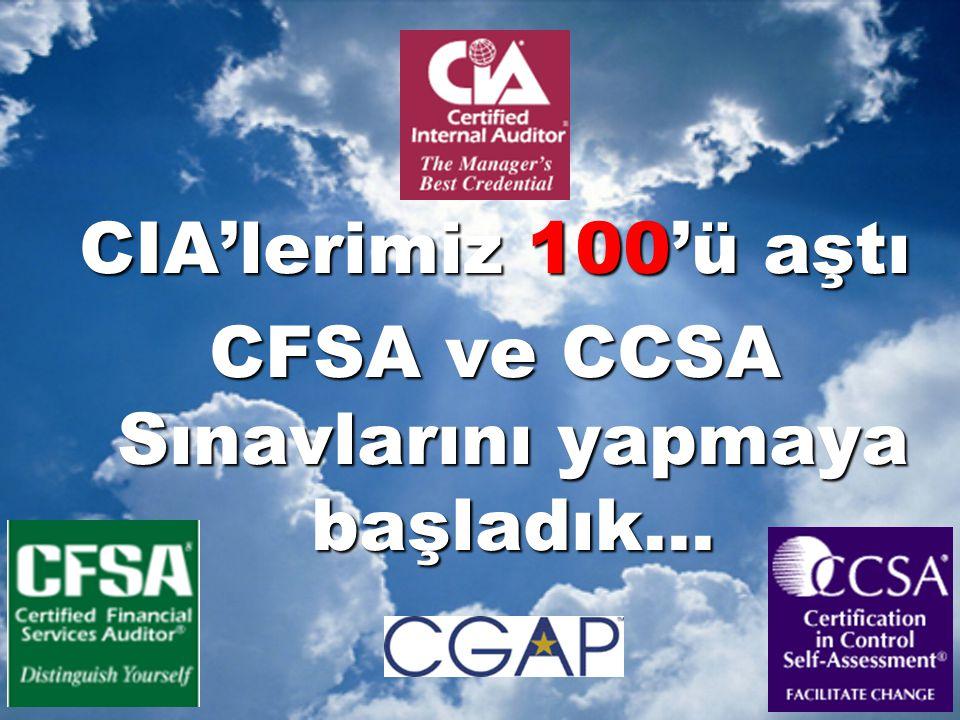 CFSA ve CCSA Sınavlarını yapmaya başladık...