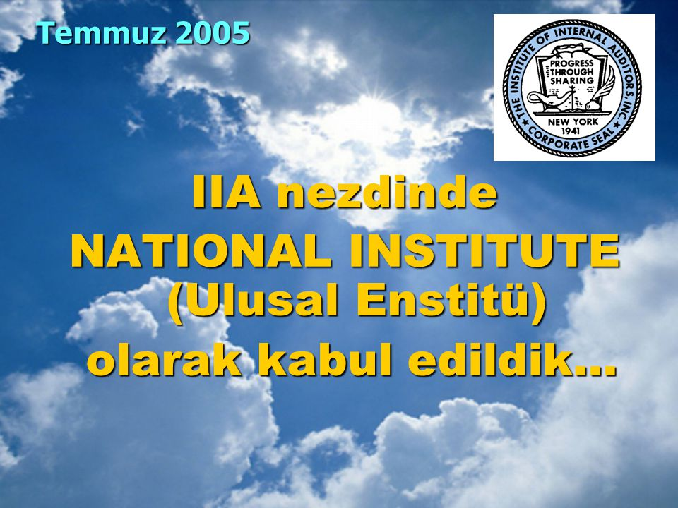 NATIONAL INSTITUTE (Ulusal Enstitü)