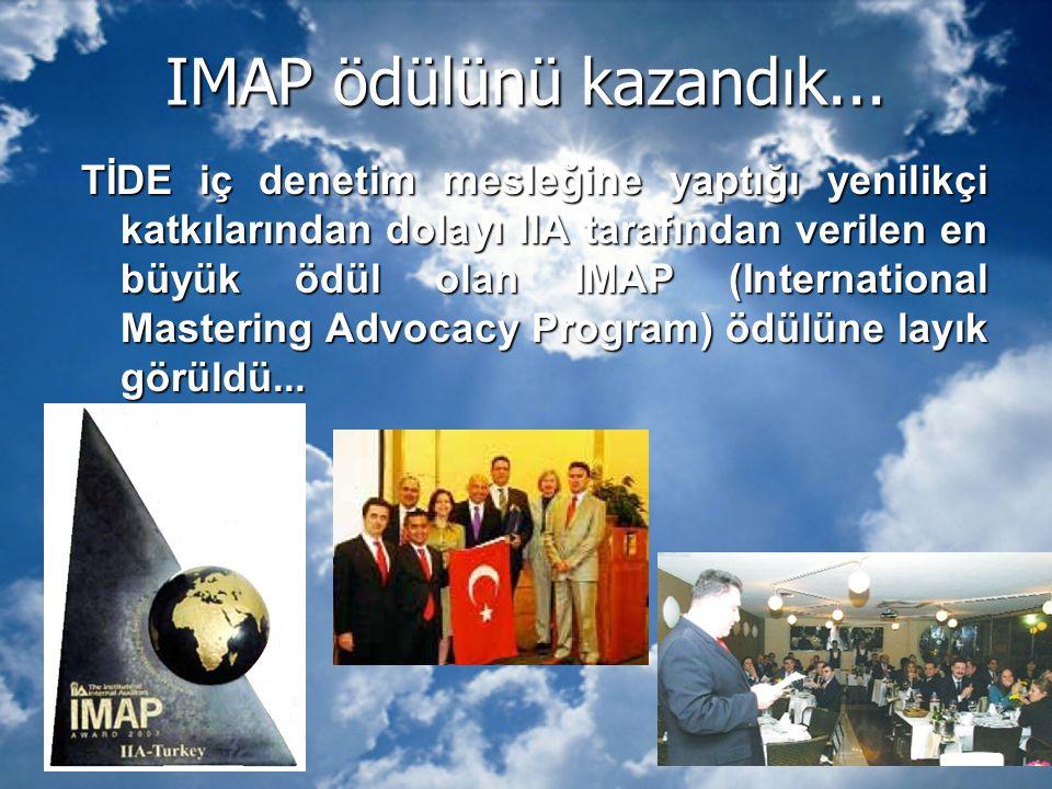 IMAP ödülünü kazandık...